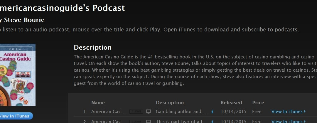 American Casino Guide – Steve Bourie Interviews Frank Scoblete