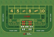 Download my custom desk size Craps layout